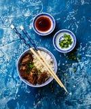 Ralentissez le boeuf cuit avec du riz Photos stock