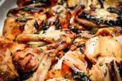 Ralentissez le poulet rôti de saumure de citron photo stock