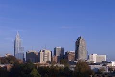 Raliegh norr Carolina Downtown Skyline Fotografering för Bildbyråer