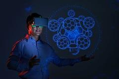 Réalité virtuelle Photos stock