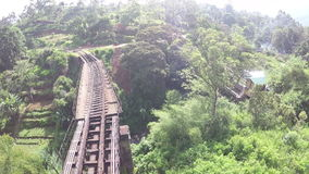 Raliway track srilanka stock footage