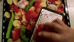 Rallar el tomate almacen de metraje de vídeo