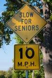 Rallenti per gli anziani Fotografie Stock Libere da Diritti