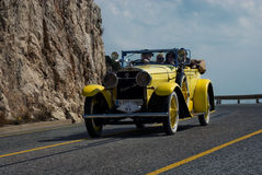 Ralley Barcelona - Sitges. Yearly ralley of oldtimers from Barcelona to Sitges, Catalonia, Spain Royalty Free Stock Photos