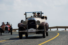 Ralley Barcelona - Sitges. Yearly ralley of oldtimers from Barcelona to Sitges, Catalonia, Spain Stock Photography