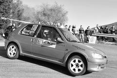 Rallie de Peugeot 106 Imágenes de archivo libres de regalías