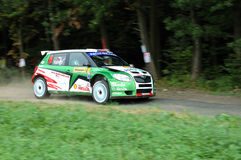 Rally 2009. Czech Barum Rally Zlin 2009 Stock Photos