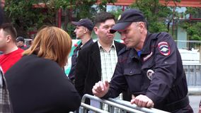 Rally against corruption organized by Navalny stock video footage