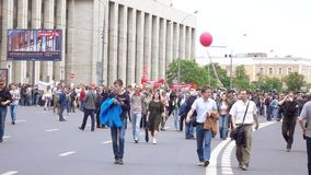Rally against corruption organized by Navalny stock footage