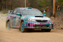 Rally America, Nick Roberts driving his Subaru Impreza Stock Images