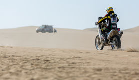 Rally Bike races Dakar 2013 Royalty Free Stock Photography