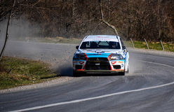 Rally. Brasov Rally Competion in Romania somewhere near Brasov in year 2014 Royalty Free Stock Photo