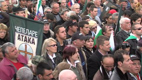 Rally Bulgarian Party Attack in the center of Sofia stock video