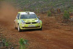 Rally car. Sports car in action during the Castrol Rally held in Nelspruit, South Africa in April 2011 Stock Photography