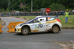 Rally car. Sports car in action during the Castrol Rally held in Nelspruit, South Africa in April 2011 Stock Photos