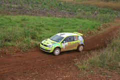 Rally car. Sports car in action during the Castrol Rally held in Nelspruit, South Africa in April 2011 Stock Images