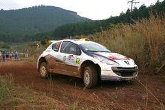 Rally car. Sports car in action during the Castrol Rally held in Nelspruit, South Africa in April 2011 Stock Image