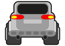 Rally car. Illustration of rally car look from behind Royalty Free Stock Photography