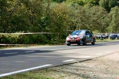 Honda Civic tuning rally car. Rally car in action on asphalt. Honda Civic  tuning. Panning shot Stock Photography