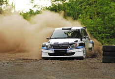 Rally car in action Royalty Free Stock Images