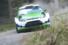 Rally car in action Royalty Free Stock Photography