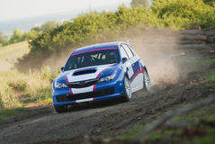 Rally car in action Stock Photo