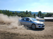 Rally car in action Stock Photos