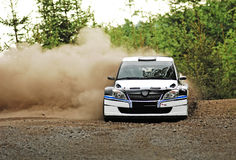Rally Car in action Royalty Free Stock Photo