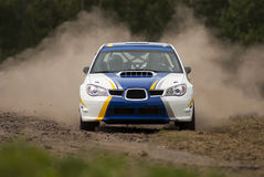 Rally Car in action Stock Images