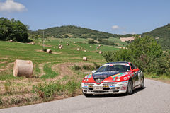 Rally car Alfa Romeo GTV V6 TB Royalty Free Stock Photo