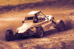 Rally car in autocross Stock Photography