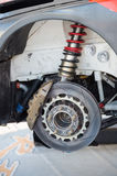 Rally car brake system detail Royalty Free Stock Image