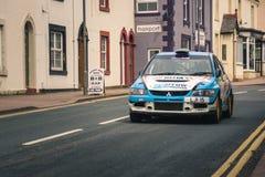 Rally car in Brampton, Cumbria Stock Image