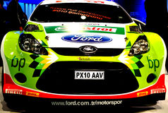 Rally Car Castrol. Car Showroom in Autoshow 2010 October Istanbul Cnr Expo. Ford royalty free stock photos