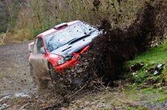 Rally Car Crash royalty free stock image