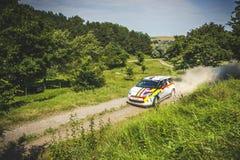 Rally car at Danube Delta Rally 2016 Royalty Free Stock Image