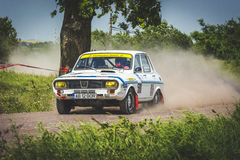 Rally car at Danube Delta Rally 2016 Royalty Free Stock Photography