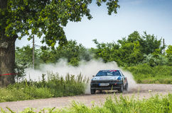 Rally car at Danube Delta Rally 2016 Stock Photography