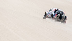 Rally car in the desert Stock Photos