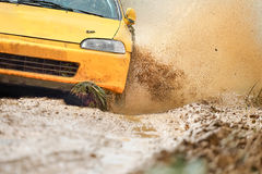 Rally Car in dirt track. Rally Racing Car in dirt track Royalty Free Stock Images
