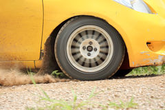 Rally Car in dirt track Stock Images