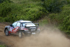 Rally car driving in country Stock Images