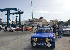 Rally car exhibition Stock Photography
