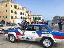 Rally car exhibition Stock Image