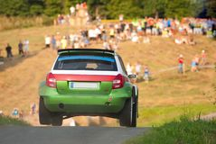 Rally car Fabia Royalty Free Stock Photos