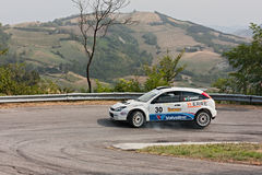 Rally car Ford Focus WRC Royalty Free Stock Image
