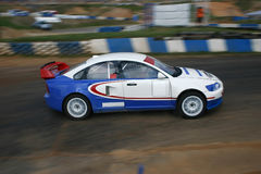 Rally car without logos. Volvo rallycross race car running - logos removed Royalty Free Stock Images