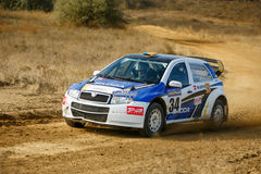 Rally car in motion Royalty Free Stock Photos