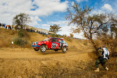Rally car in motion Stock Image