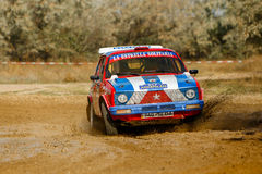 Rally car in motion Stock Photography